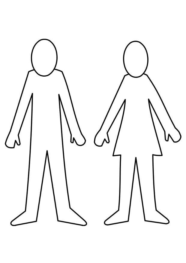 Dibujo para colorear hombre y mujer - Img 21995