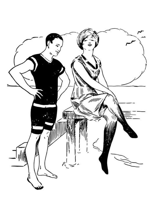 Dibujo Para Colorear Hombre Y Mujer Img 30140