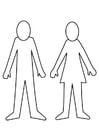Dibujo para colorear hombre y mujer
