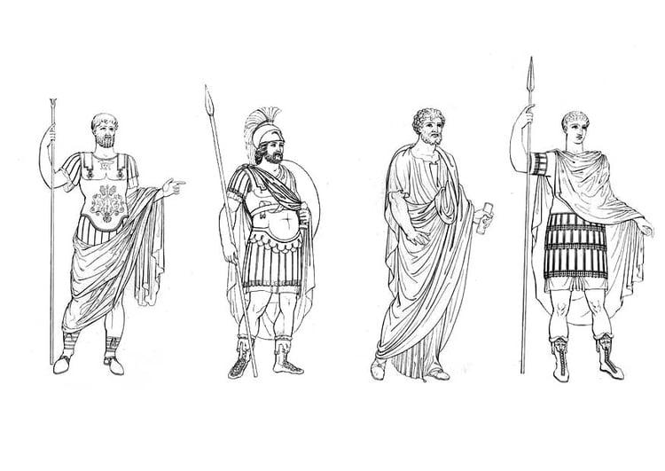 Dibujo para colorear Hombres romanos - Img 9423