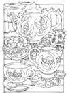 Dibujo para colorear Hora del té