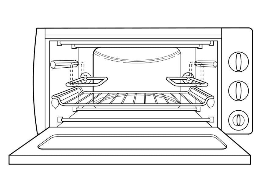 Dibujo para colorear horno img 22206 for Horno para cuchillos