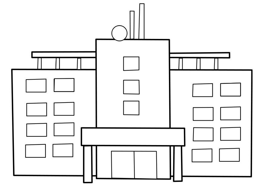 Dibujo para colorear hospital - Img 22477