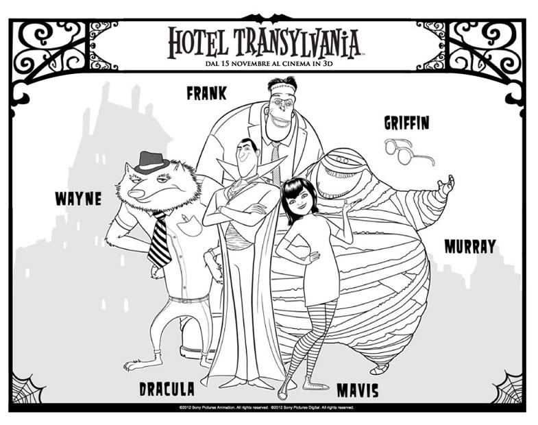 Dibujo Para Colorear Hotel Transilvania Dibujos Para Imprimir Gratis
