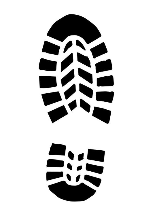 Dibujo Para Colorear Huella De Zapato Dibujos Para Imprimir Gratis