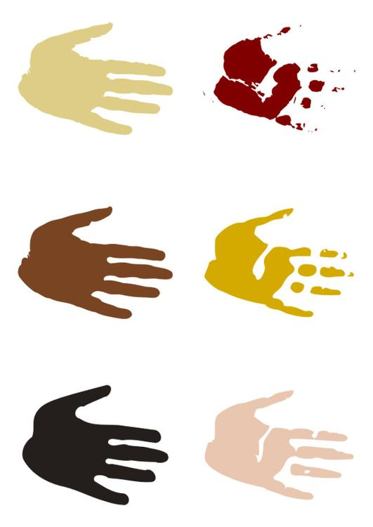 Dibujo Para Colorear Huellas De La Mano Img 27701