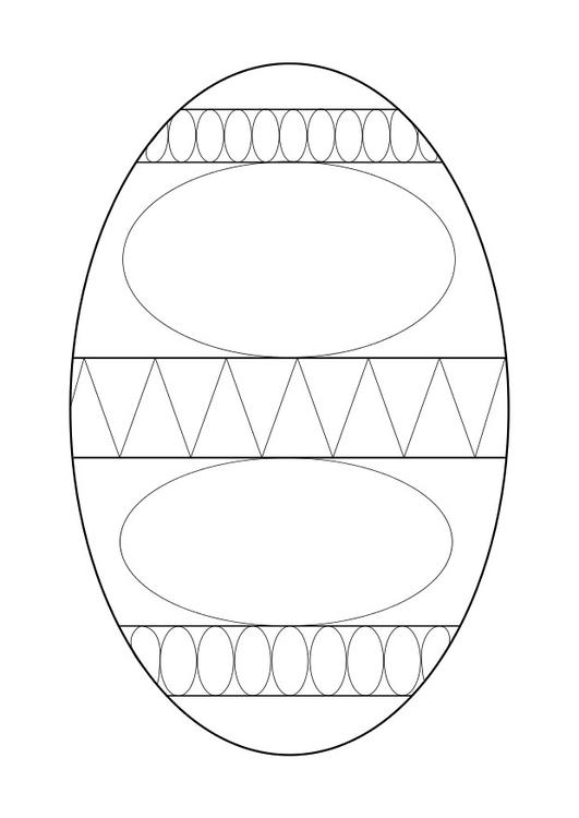 Dibujo Para Colorear Huevo De Pascua Img 29301
