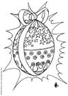 Dibujo para colorear Huevo de pascua