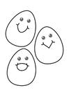 Dibujo para colorear huevos de Pascua