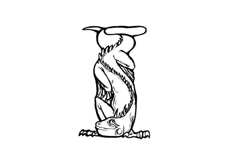 Dibujo para colorear i-iguana - Img 24824