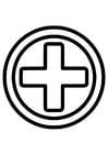 Dibujo para colorear icono de primeros auxilios
