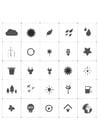 Dibujos para colorear iconos ecológicos
