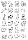 Dibujo para colorear iconos para niños pequeños