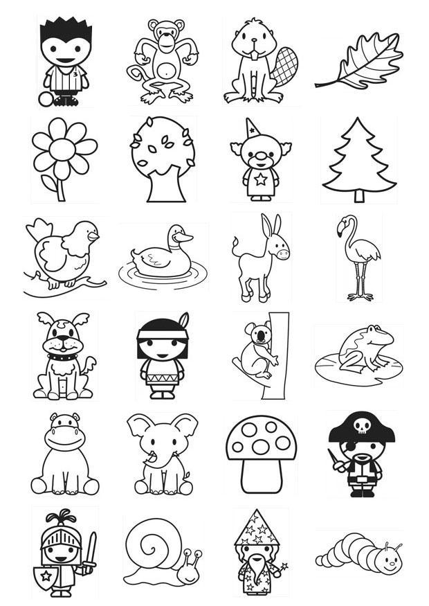Dibujo para colorear iconos para niños - Img 21103