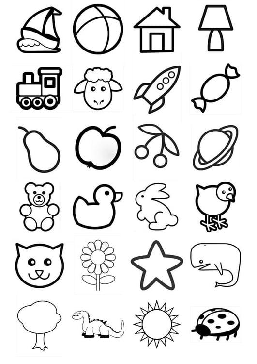 Dibujo para colorear iconos para niños - Img 20549
