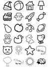 Dibujo para colorear iconos para niños
