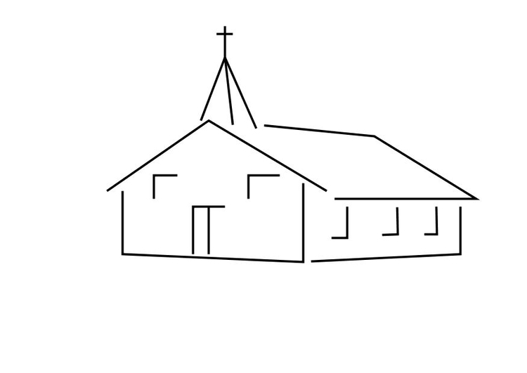 Dibujo Para Colorear Iglesia Dibujos Para Imprimir Gratis