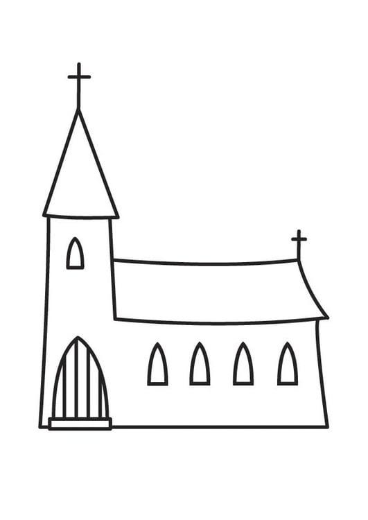 Dibujo para colorear iglesia - Img 23136