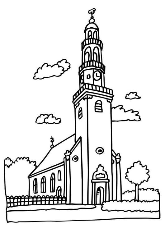 Dibujo para colorear Iglesia - Img 6513