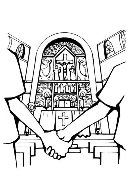 Matrimonio Catolico Dibujo : Dibujo para colorear iglesia matrimonio img