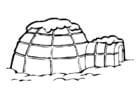 Dibujo para colorear iglú