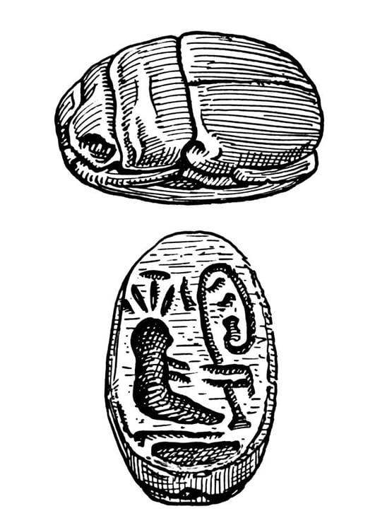 Dibujo para colorear imagen de escarabajo - Img 18858