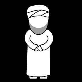 Dibujo para colorear Imn  musulmn  Img 14300