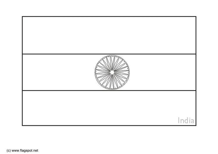 Dibujo para colorear India - Img 6281