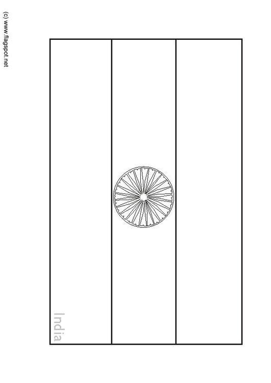 Asombroso Bandera De La India Para Colorear Elaboración - Enmarcado ...