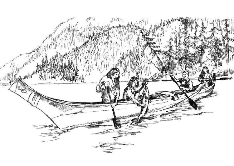Dibujo para colorear Indígenas - Img 18231
