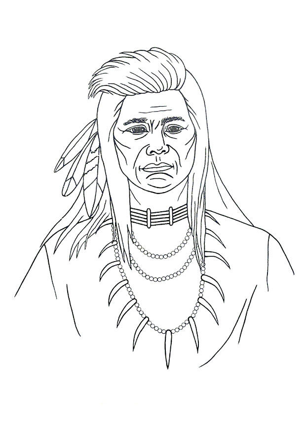 Dibujo para colorear Indio - Img 9906