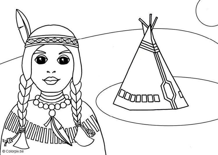 Dibujo para colorear Indio - Img 15525