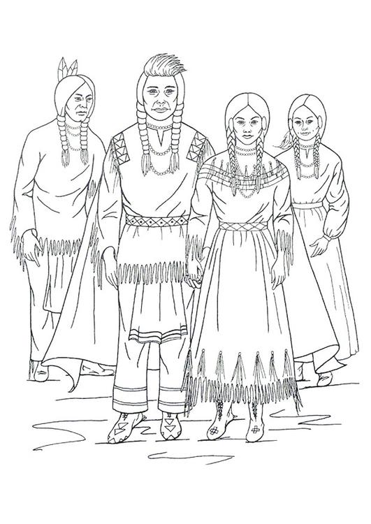 Dibujo para colorear Indios nez perce - Img 9909