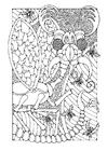 Dibujo para colorear insecto de fantasía