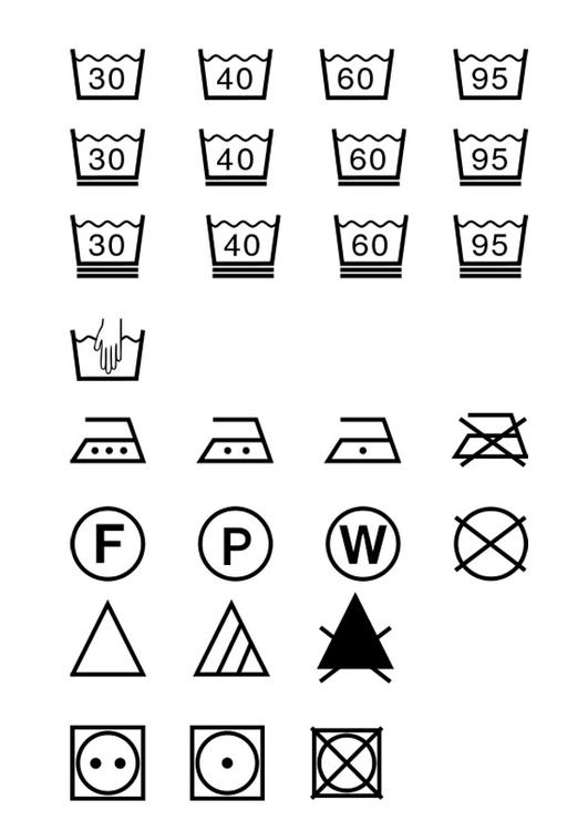 Dibujo Para Colorear Instrucciones De Lavado Img 28955
