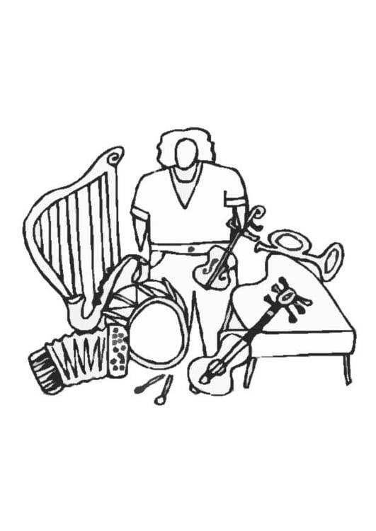 Dibujo Para Colorear Instrumentos Img 8707 Images
