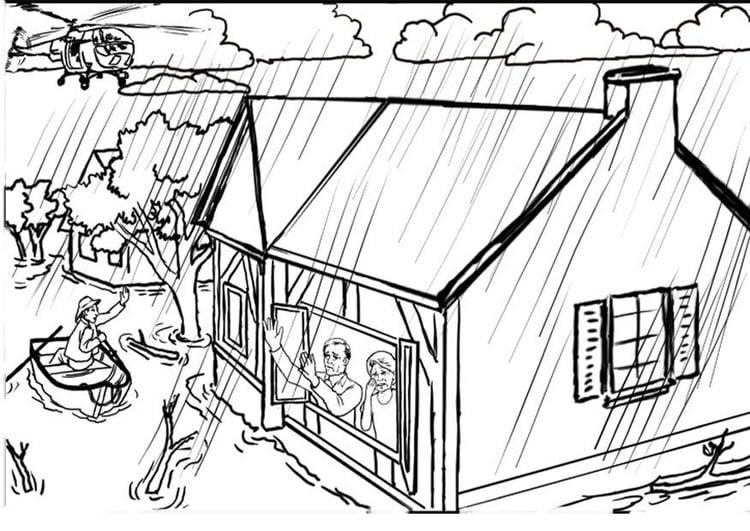 Dibujo para colorear Inundación - Img 12308