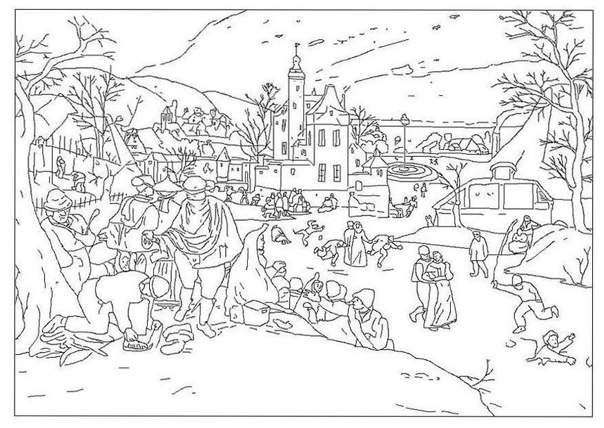 Dibujo Para Colorear Invierno Abel Grimmer Img 20457