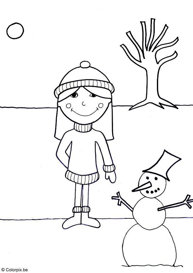 Dibujo para colorear Invierno - Img 5765