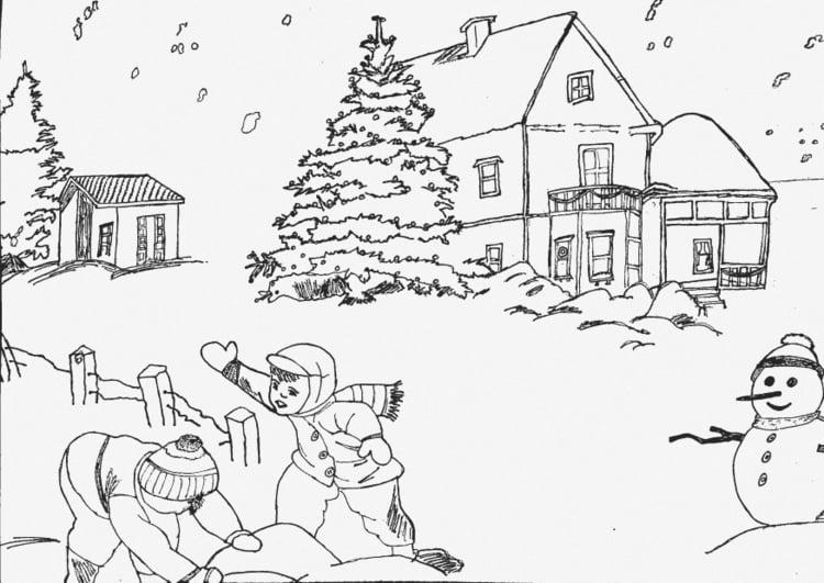 Dibujo Para Colorear Invierno Img 13696 Images