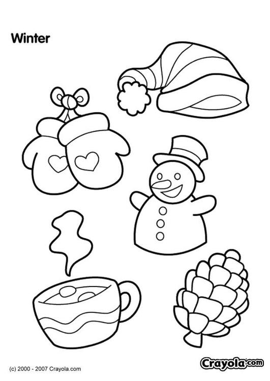 Dibujo para colorear Invierno - Img 7833