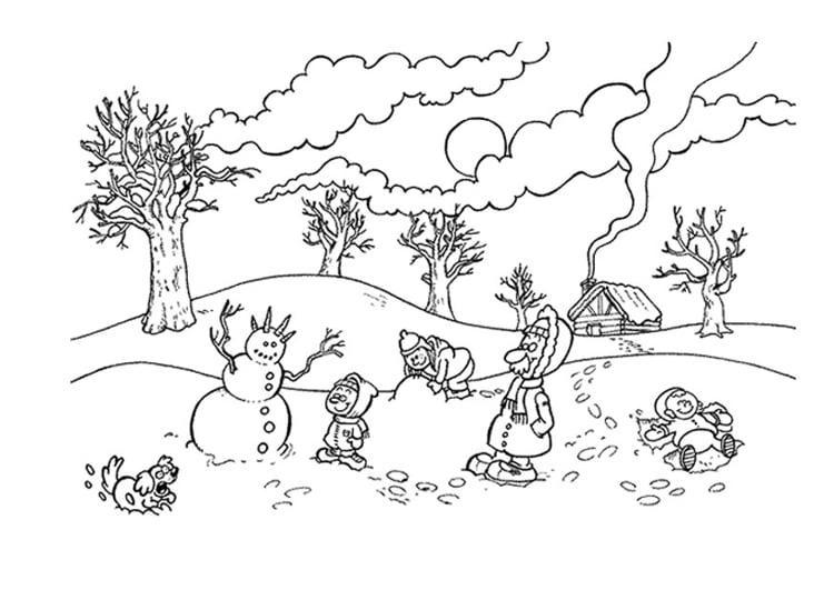 Dibujo Para Colorear Invierno Img 9497