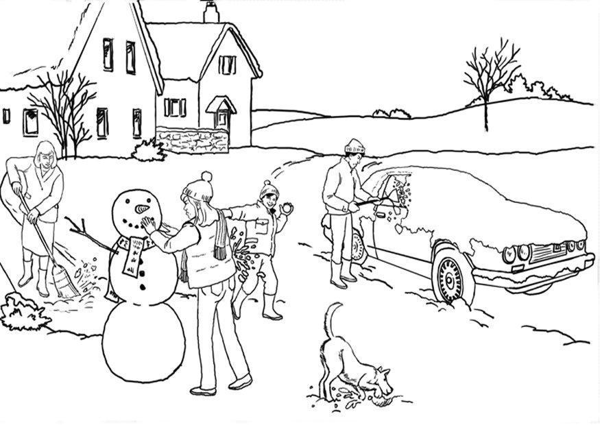 Dibujo Para Colorear Invierno Nieve Img 7889 Images