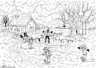 Dibujo para colorear Invierno