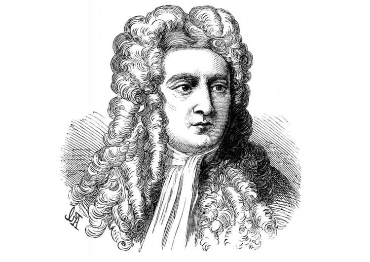 Dibujo Para Colorear Isaac Newton Img 11420