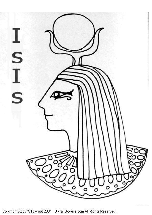 Dibujo para colorear Isis - Img 6051