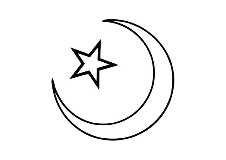 Dibujo para colorear Islam - Img 11273