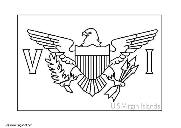 Dibujo Para Colorear Islas Vírgenes Eeuu Img 6335