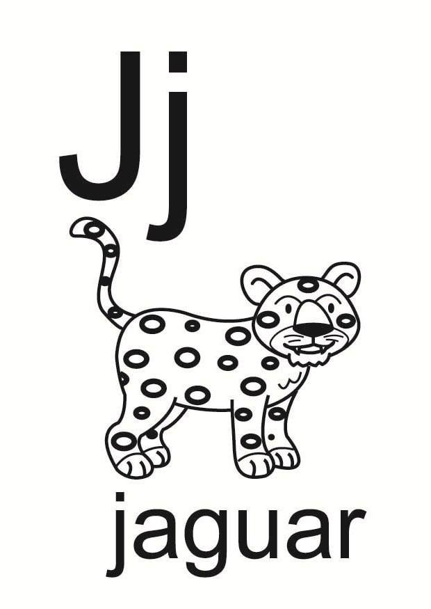 Dibujo para colorear j - Img 23677