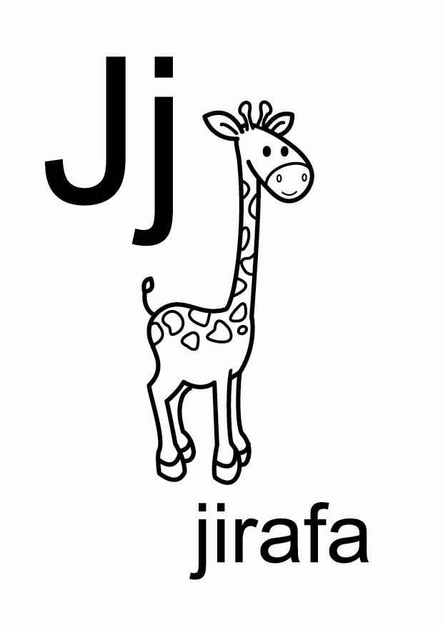 Dibujo para colorear j - Dibujos Para Imprimir Gratis ...